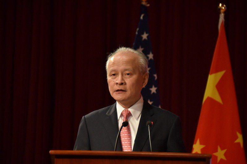 大陸駐美大使崔天凱。圖/中新社