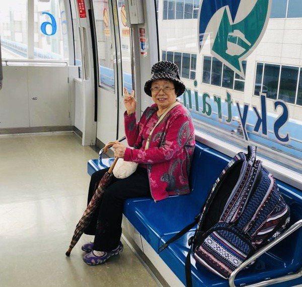 唐從聖安排母親在沖繩旅遊,體驗日本風情。圖/唐從聖提供