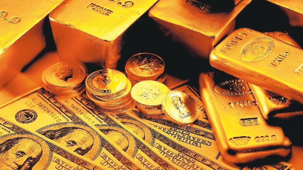 國際金價走勢震盪,未來下行風險高。(本報系資料庫)