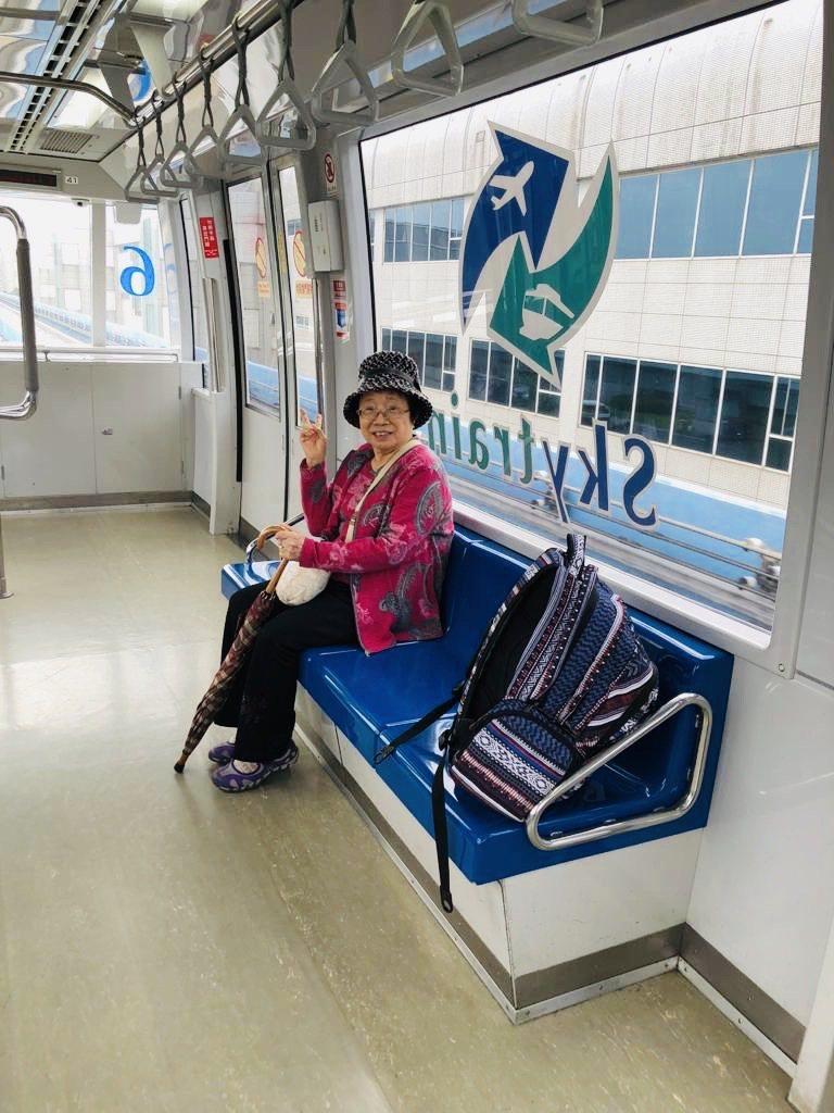 唐從聖安排母親在沖繩旅遊,體驗日本風情。 圖/唐從聖提供