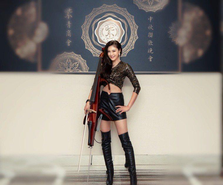 「大提琴界的林志玲」嫚凌靠嚴格飲食和運動,讓身形更完美。圖片由嫚凌授權「有肌勵」...