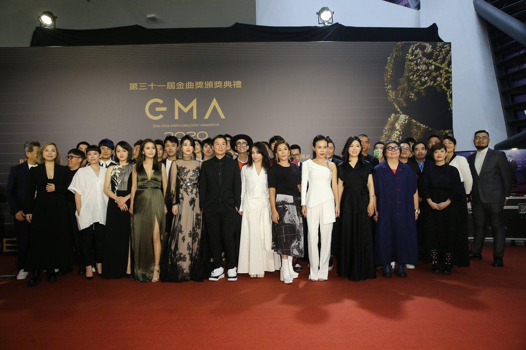 第31屆金曲獎在台北流行音樂中心舉行,評審團走星光大道。記者季相儒/攝影