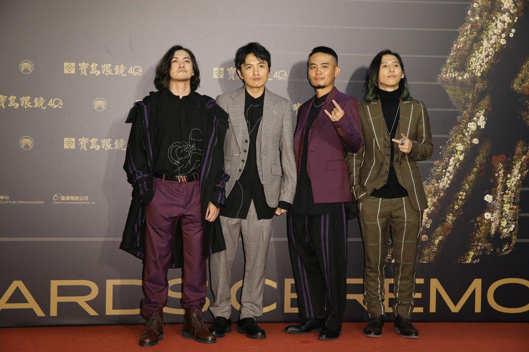 第31屆金曲獎在台北流行音樂中心舉行,滅火器走星光大道。記者季相儒/攝影