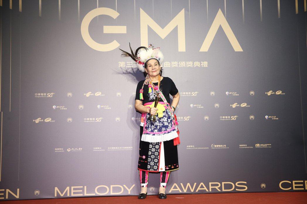 第31屆金曲獎,盧靜子獲得最佳原住民語歌手獎。記者曾原信/攝影
