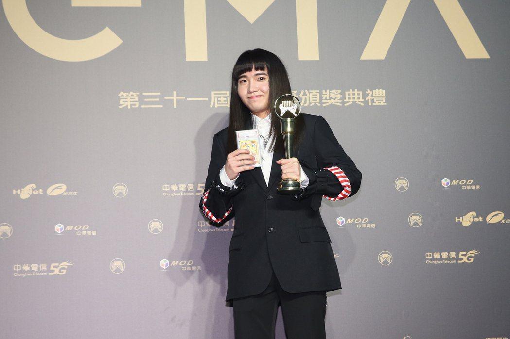 第31屆金曲獎,持修獲得最佳新人獎。記者曾原信/攝影
