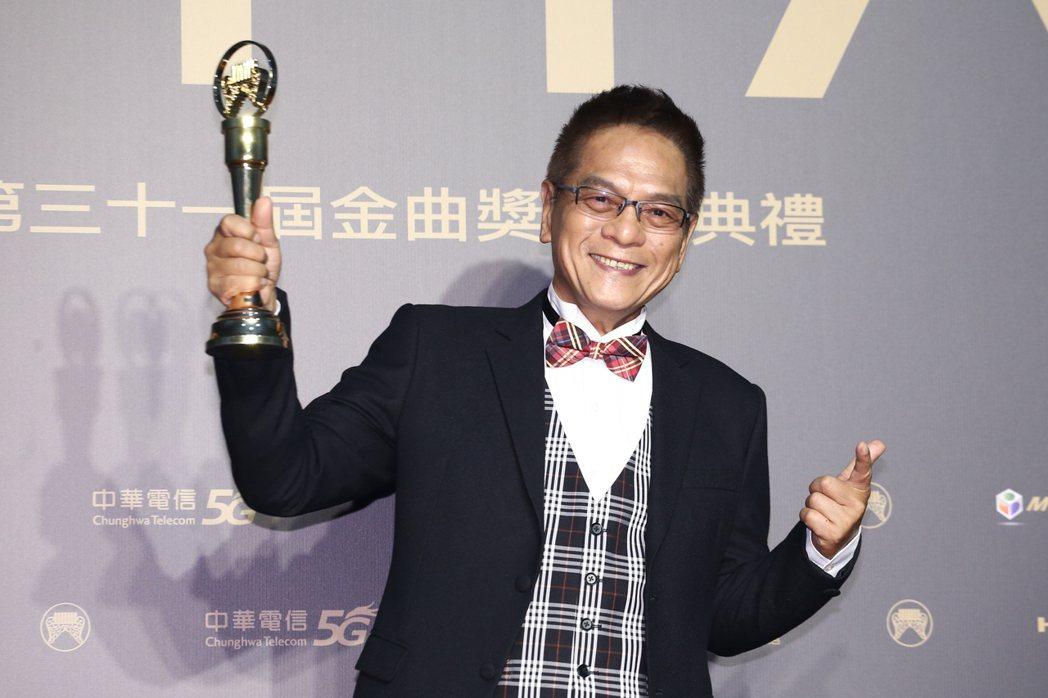 第31屆金曲獎,黃瑞豐獲得特別貢獻獎。記者曾原信/攝影