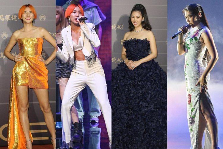圖/9m88、王若琳參加第31屆金曲獎典禮。台視提供、記者季相儒/攝影
