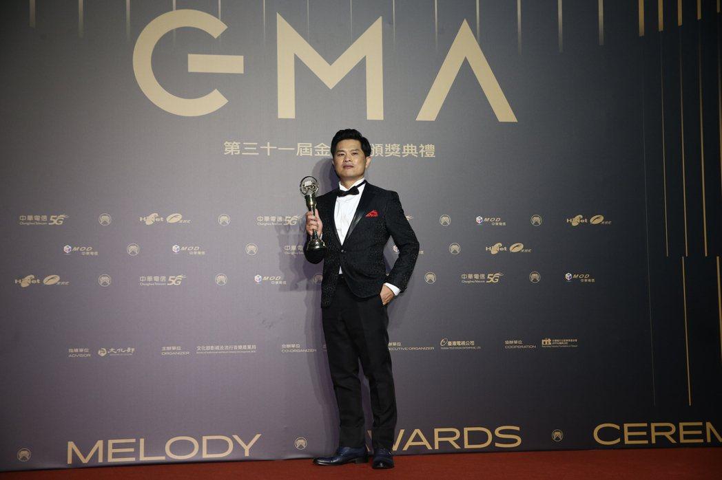 第31屆金曲獎,蘇明淵獲得最佳台語男歌手獎。記者曾原信/攝影
