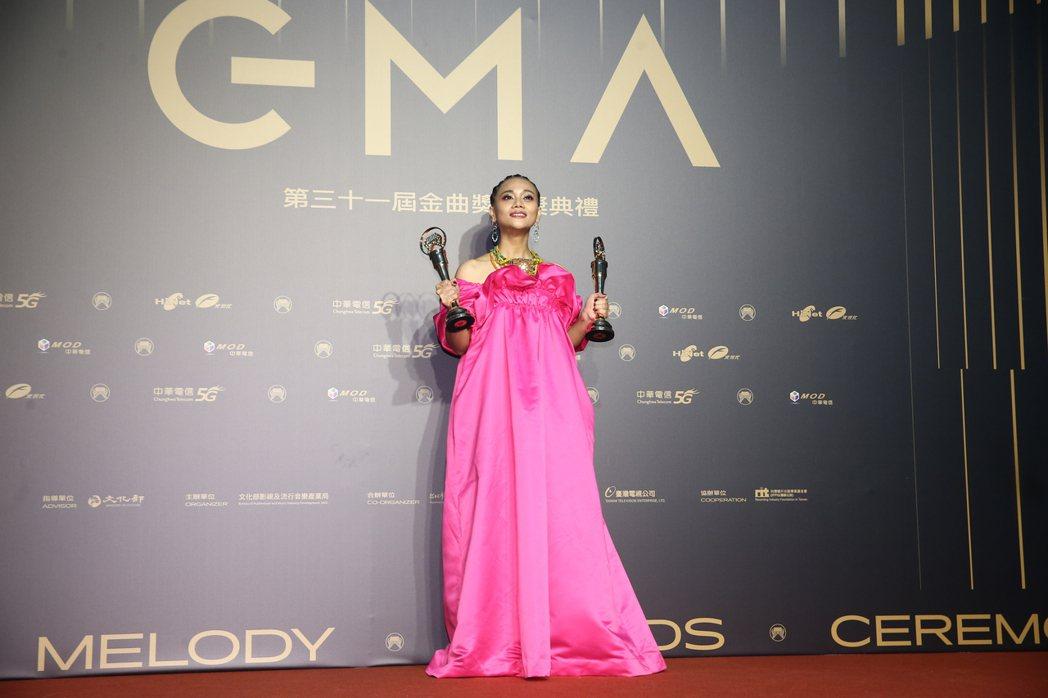 第31屆金曲獎年度歌曲獎,由阿爆演唱的《Thank you》獲得。記者曾原信/攝...