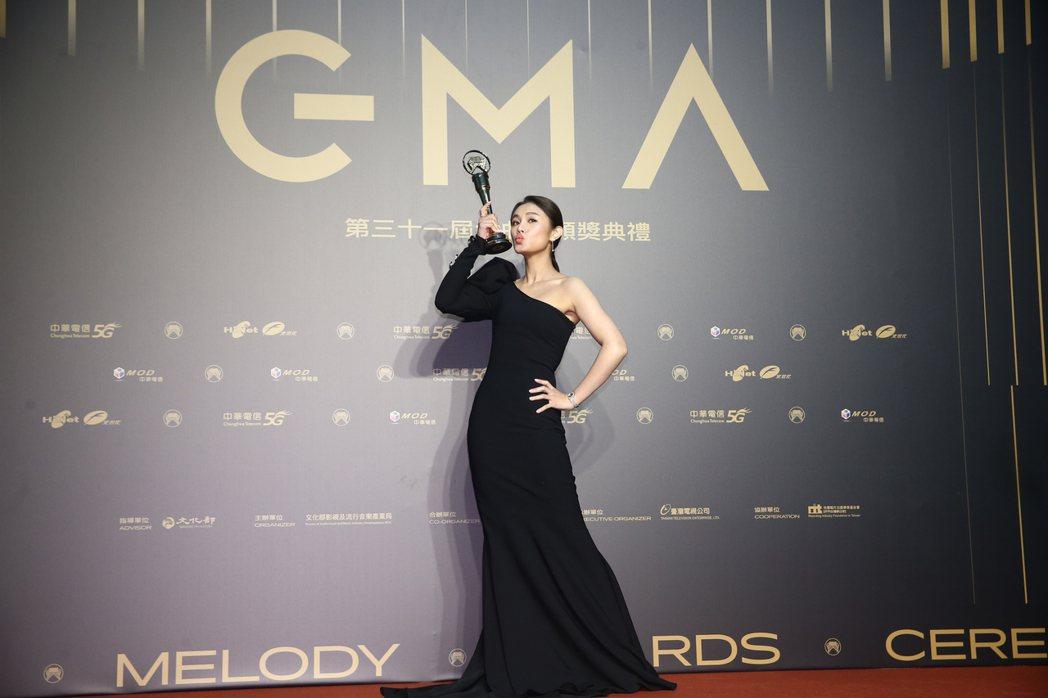 第31屆金曲獎,朱海君獲得最佳台語女歌手獎。記者曾原信/攝影