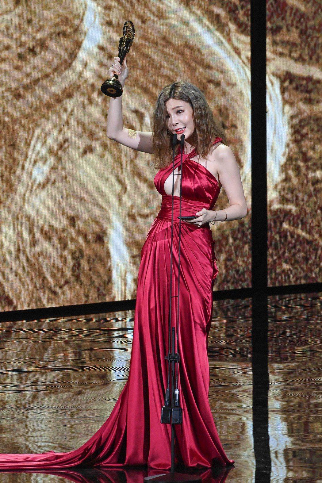 第31屆金曲獎,《裝潢》(代領)獲得最佳台語專輯獎。圖/台視提供