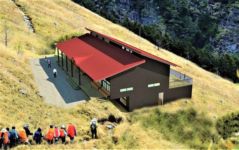 內政部統計,今年5月後國家公園遊客人數持續成長,圖為即將進行重建的雪霸國家公園三六九山莊將進行重建。圖/雪霸國家公園管理處提供