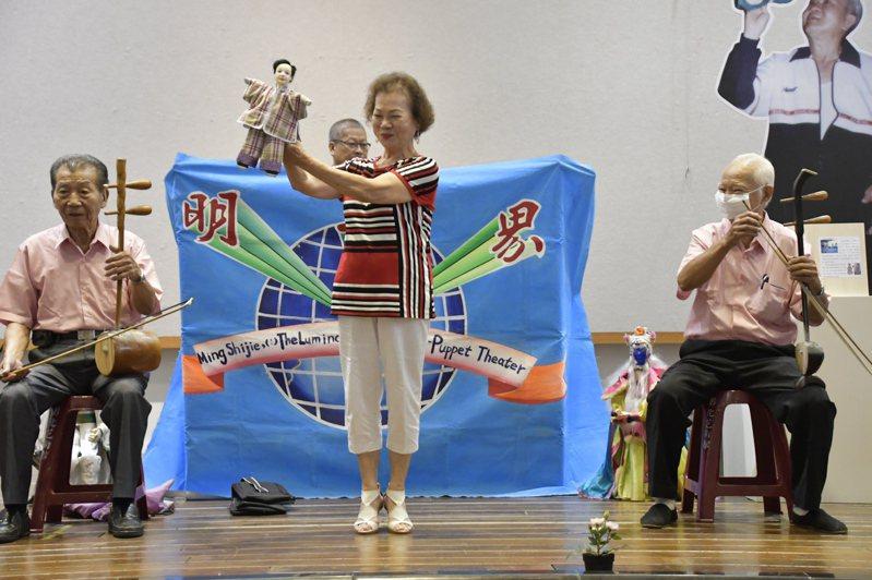 彰化傳統表演藝術保存者茆明福去世周年,文化局舉辦特展等相關藝文展演和活動向他致敬。圖/文化局提供