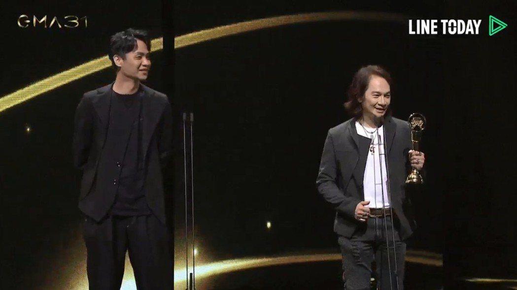 「少年 The Younger Me」獲最佳演唱錄音專輯獎,人員致詞時感謝主唱兼