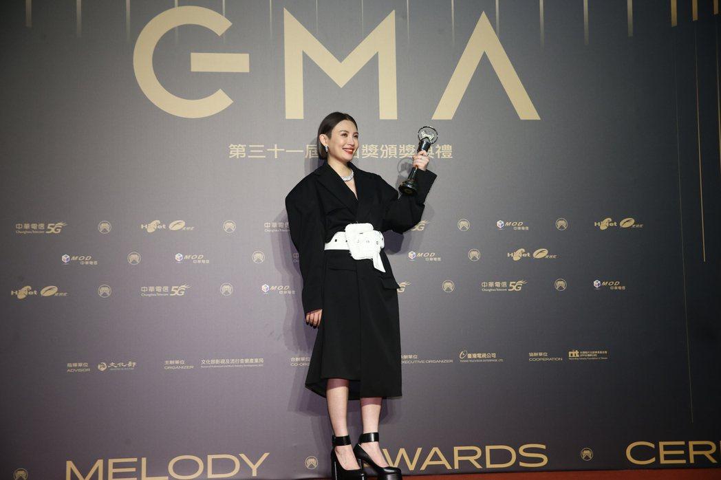 第31屆金曲獎,魏如萱獲得最佳國語女歌手獎。記者曾原信/攝影