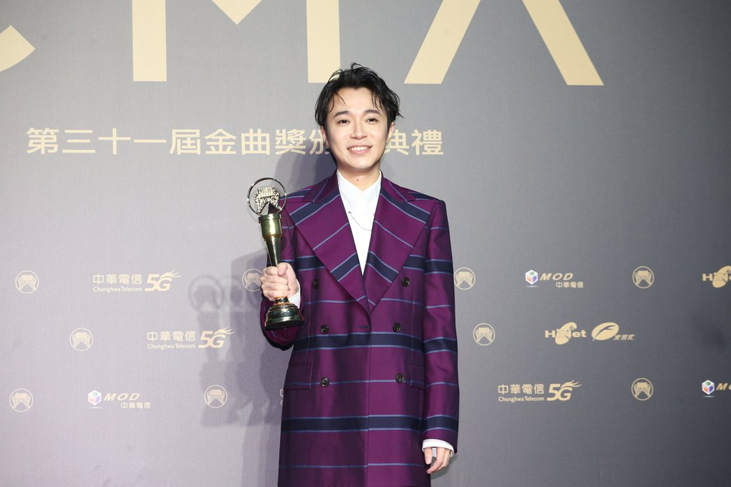 第31屆金曲獎,吳青峰獲得最佳國語男歌手獎。記者曾原信/攝影