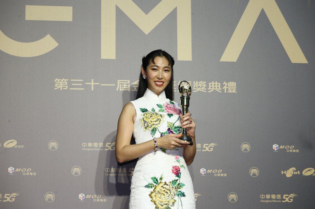 第31屆金曲獎,王若琳《愛的呼喚》獲得最佳國語專輯獎。記者曾原信/攝影