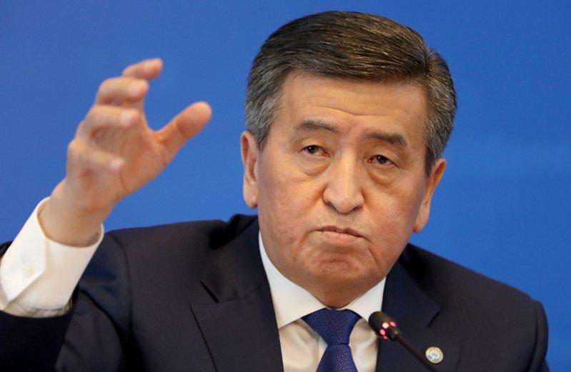吉爾吉斯總統秦貝科夫。 歐新社