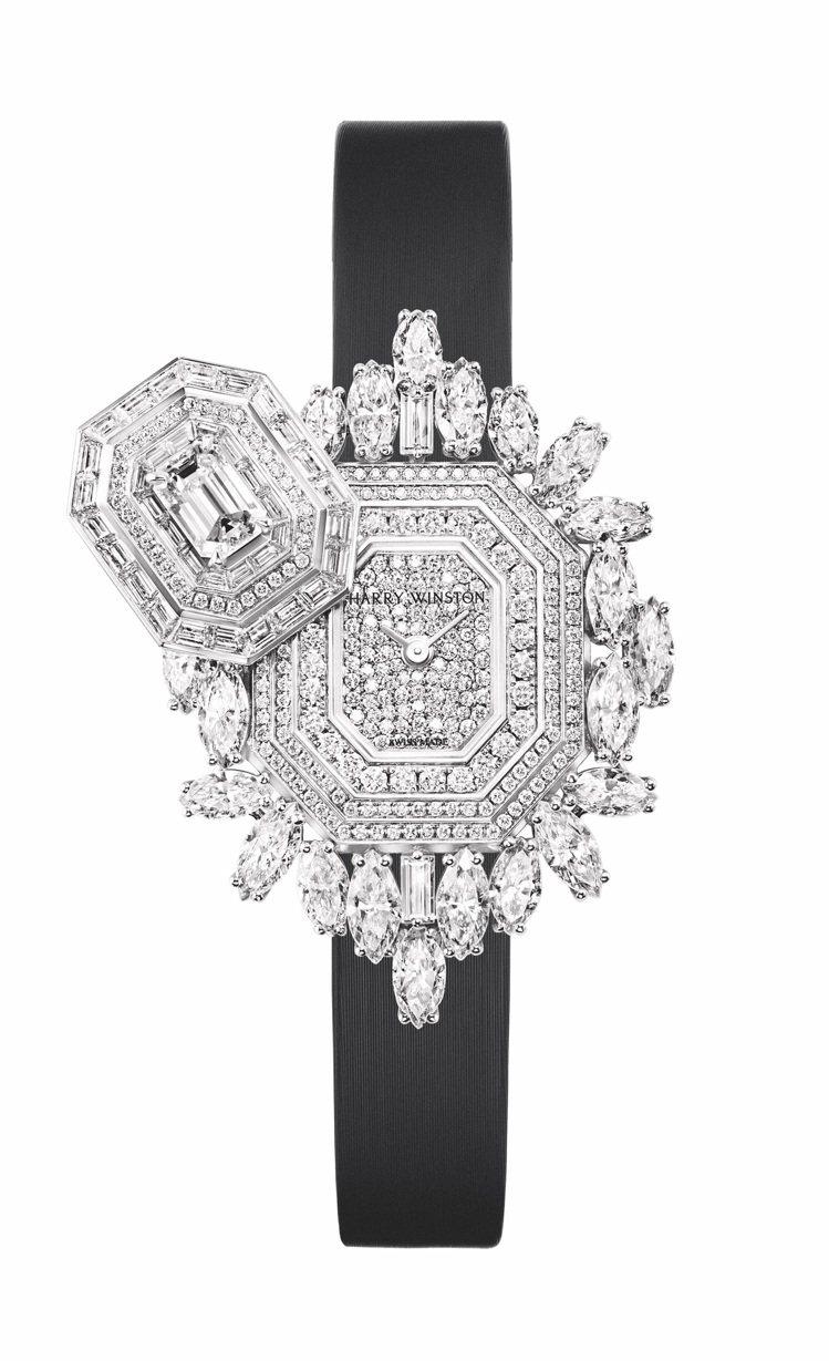海瑞溫斯頓Ultimate Emerald Signature頂級珠寶時計,價格...