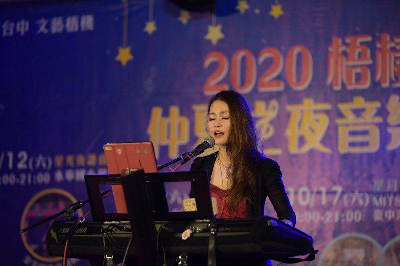 台中市梧棲區昨晚的音樂會,吸引人潮。圖/梧棲區公所提供