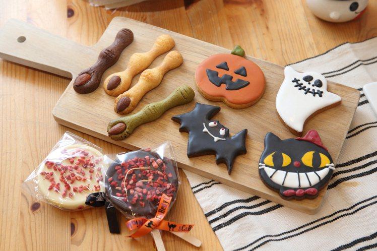 萬聖節期間還有魔幻指尖、4款造型的糖霜餅乾,以及跳跳糖克力。記者陳睿中/攝影