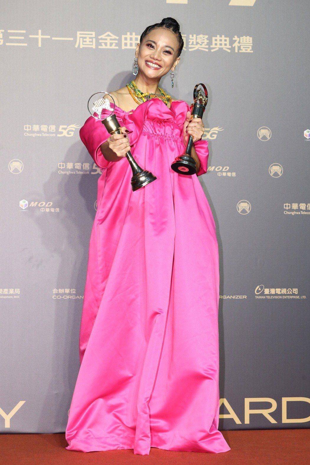 阿爆在第31屆金曲獎拿下3項大獎。記者曾原信/攝影