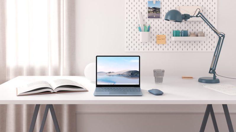 時尚輕盈的Surface Laptop Go,價格超實惠,建議售價美金549元起(約台幣15,900元起)。圖/台灣微軟提供