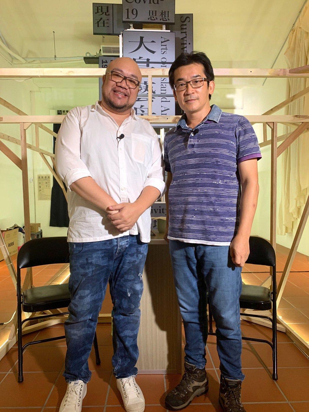 葉天倫(左)化身YouTuber,訪問同為導演的魏德聖(右),聊起拍片甘苦談,感