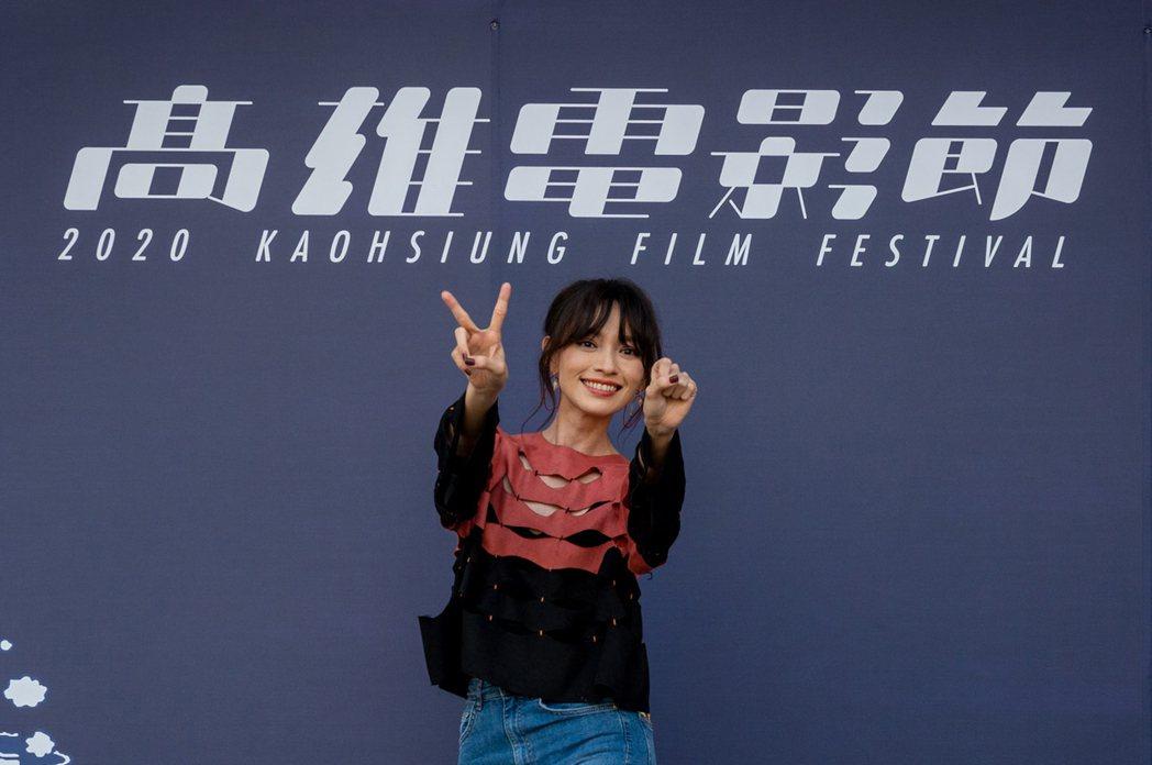 姚以緹出席高雄電影節20周年活動,重新再聊與張震合演的代表作「龍先生」。圖/高雄