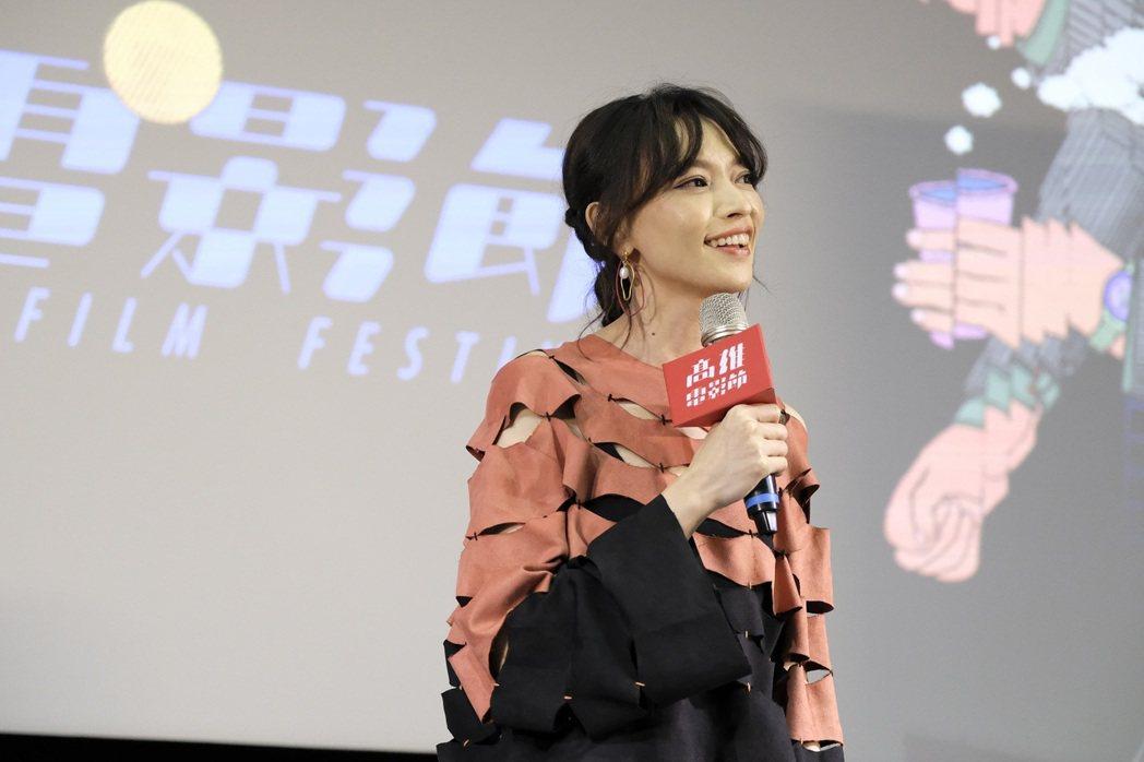 姚以緹出席高雄電影節20周年活動,重新再聊與張震合演的代表作「龍先生」。圖/高雄...