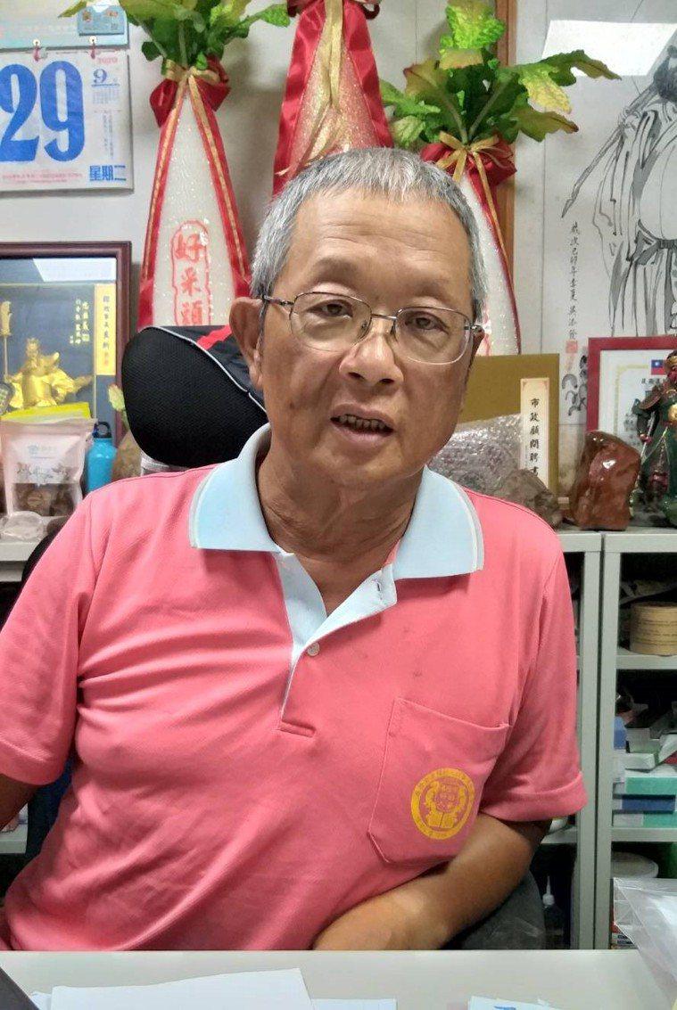 基隆市前市議員韓良圻配合醫師完成化療及放療,抗癌成功。記者邱瑞杰/攝影