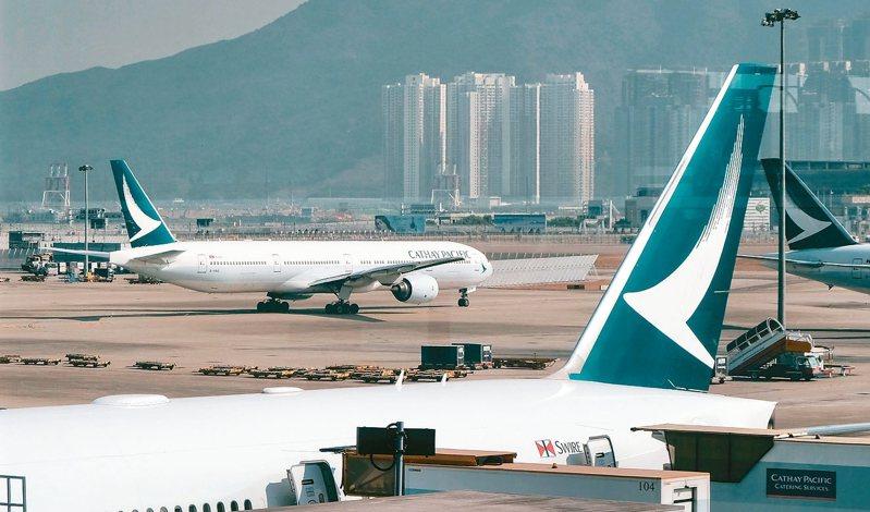 有消息指出,國泰航空將大裁員。 香港中通社資料照片