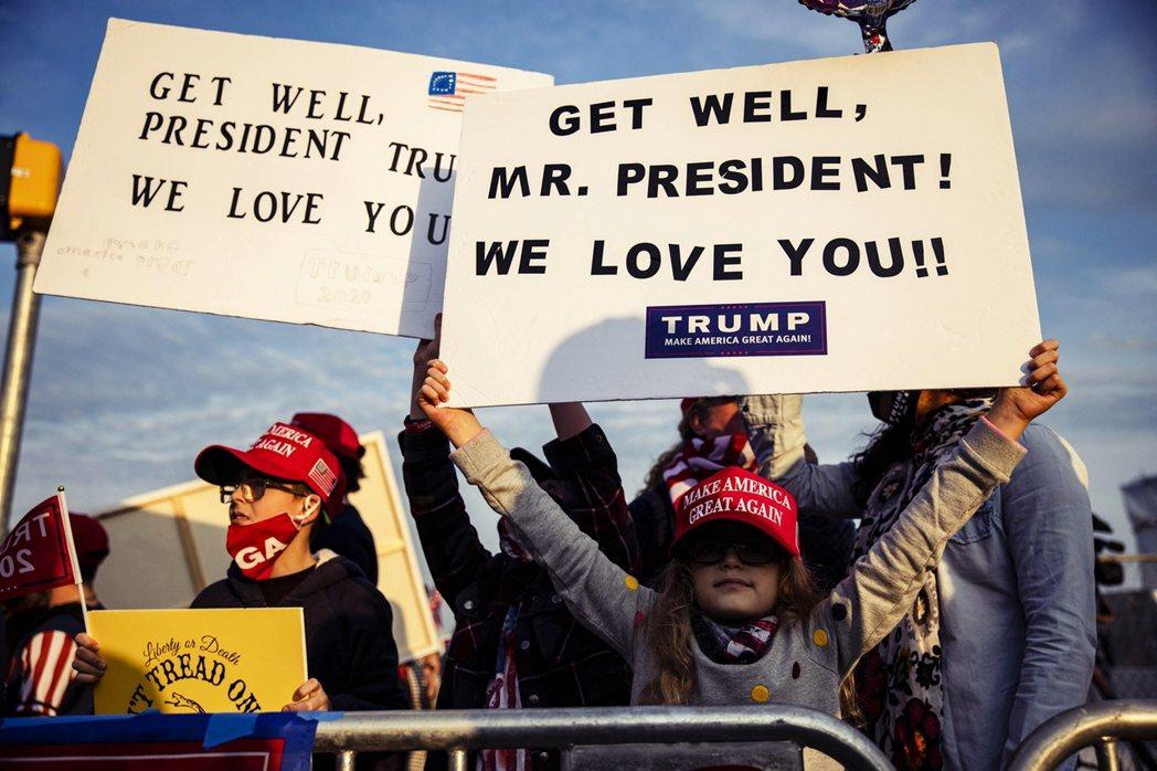 馬里蘭的川普支持者。 圖/法新社