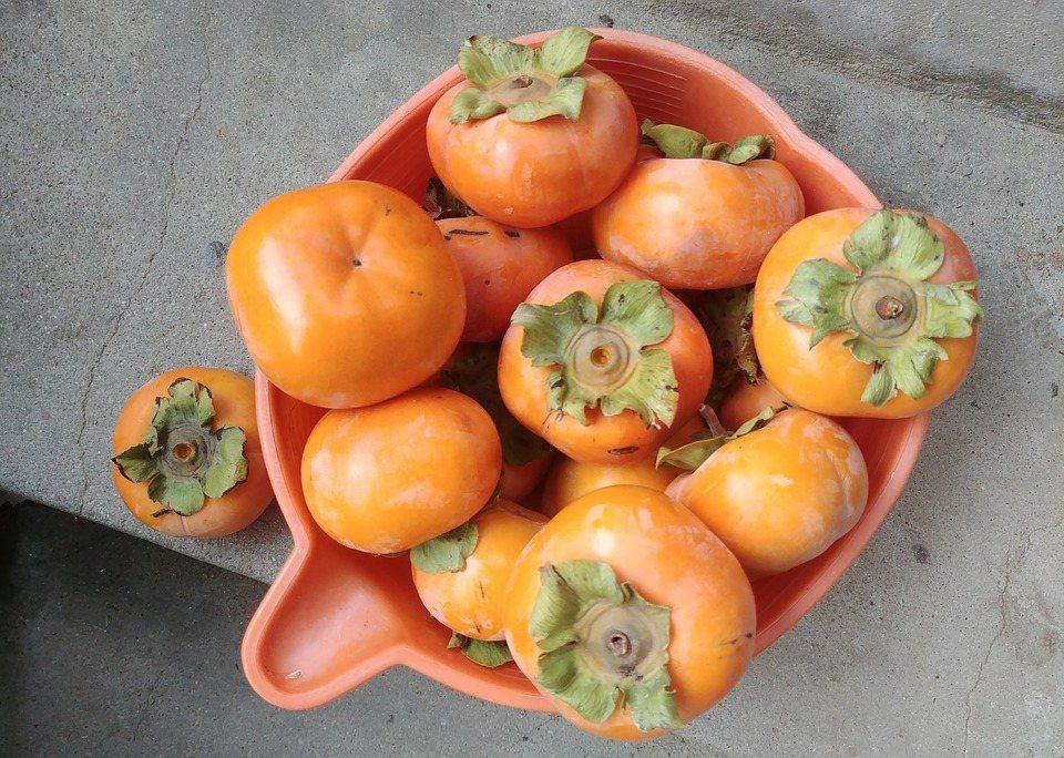 果實色澤、果蒂等細節,才是購買好柿的關鍵。 圖/pixabay