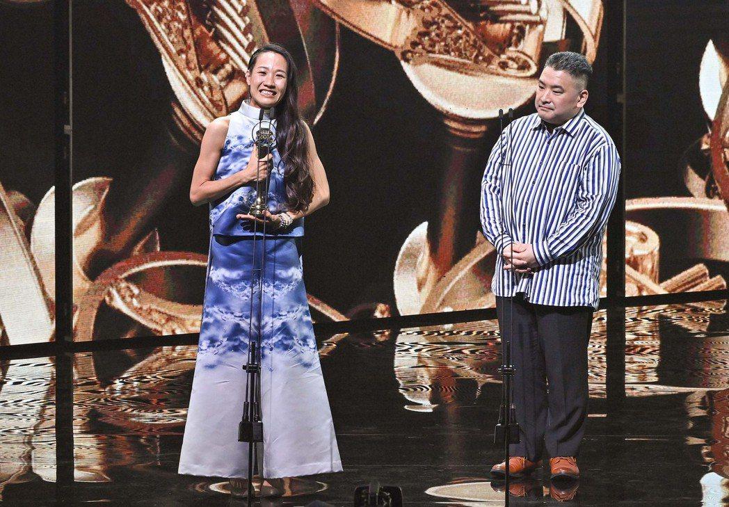 第31屆金曲獎,米莎《戇仔船》獲得最佳客語歌手獎與最佳客語專輯獎。圖/台視提供