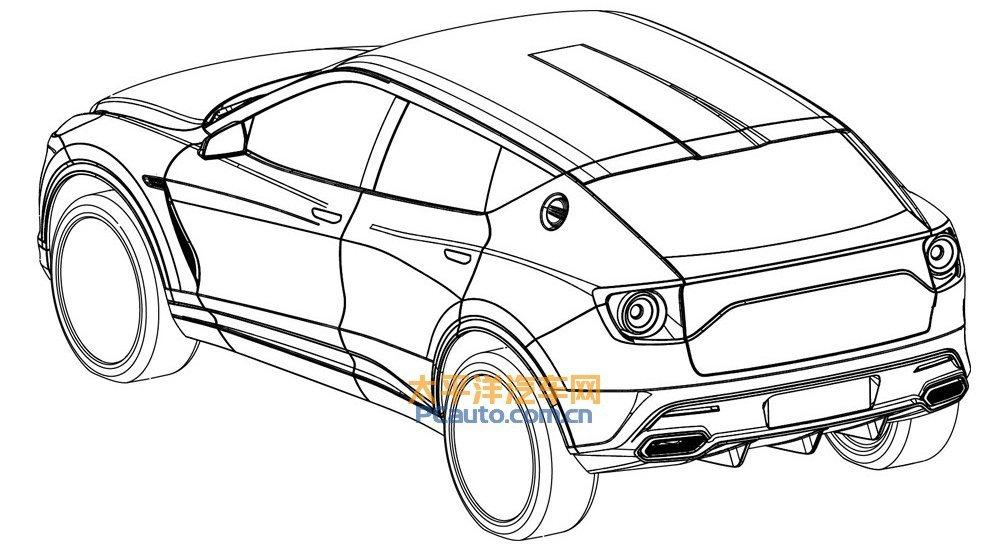 中國媒體流出的Lotus SUV設計圖。 摘自太平洋汽車網