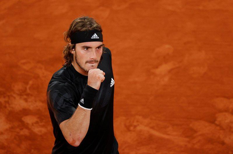 希臘好手西西帕斯(Stefanos Tsitsipas)今年法網寫下突破,生涯首度闖進紅土大滿貫8強。 路透社