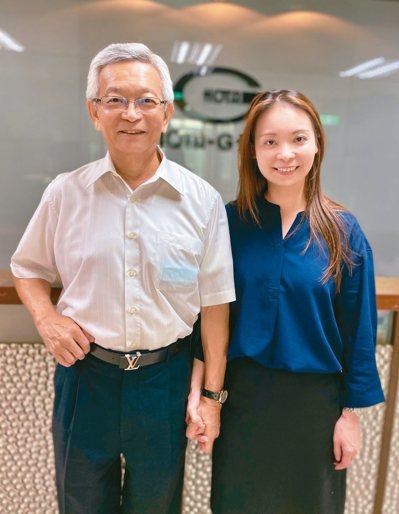 和大集團董事長沈國榮 (左)與和大執行長沈千慈(右)。 記者宋健生/攝影