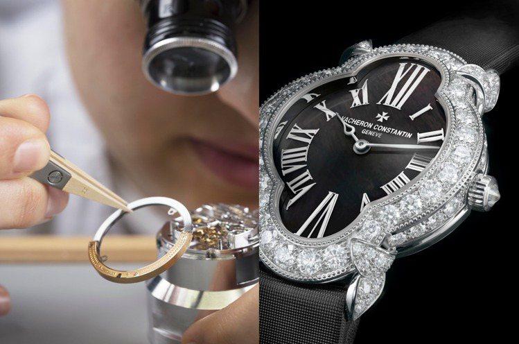 以新藝術風格為靈感的Heure Romantique女仕鑽表,古典婉約。圖 / ...