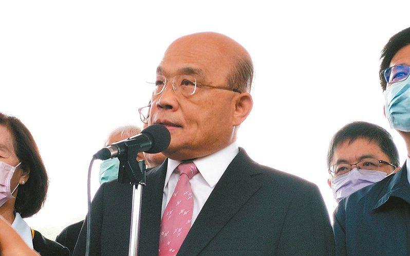 涉嫌在台灣殺害女友的香港嫌犯陳同佳想來投案,行政院長蘇貞昌昨說,不容許一個殺人犯自由來台。 記者戴永華╱攝影