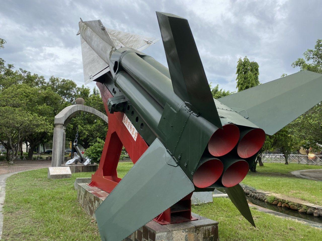 潮州運動公園內的勝利女神防空飛彈。 圖/陳弘逸 攝影