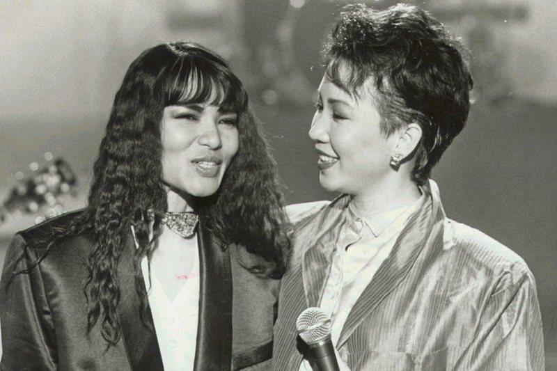 潘越雲(左)與蘇芮(右),攝於1985年。 圖/聯合報系資料照
