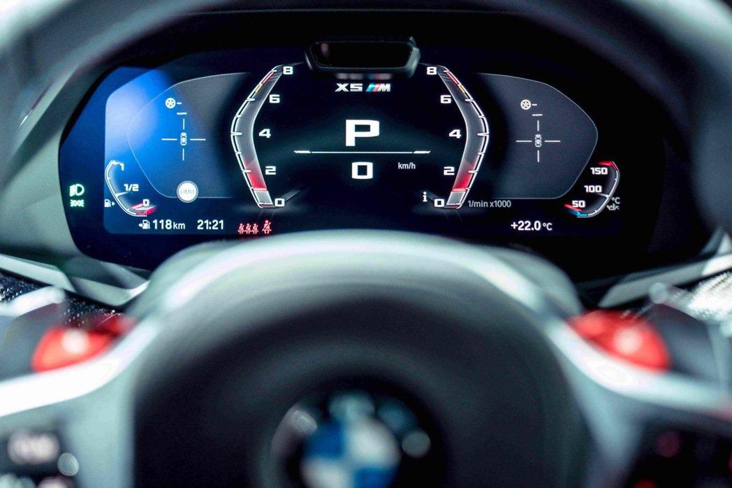 12.3吋的虛擬數位儀錶在Sport模式中除去不必要的資訊,保留最精準數據,簡潔...