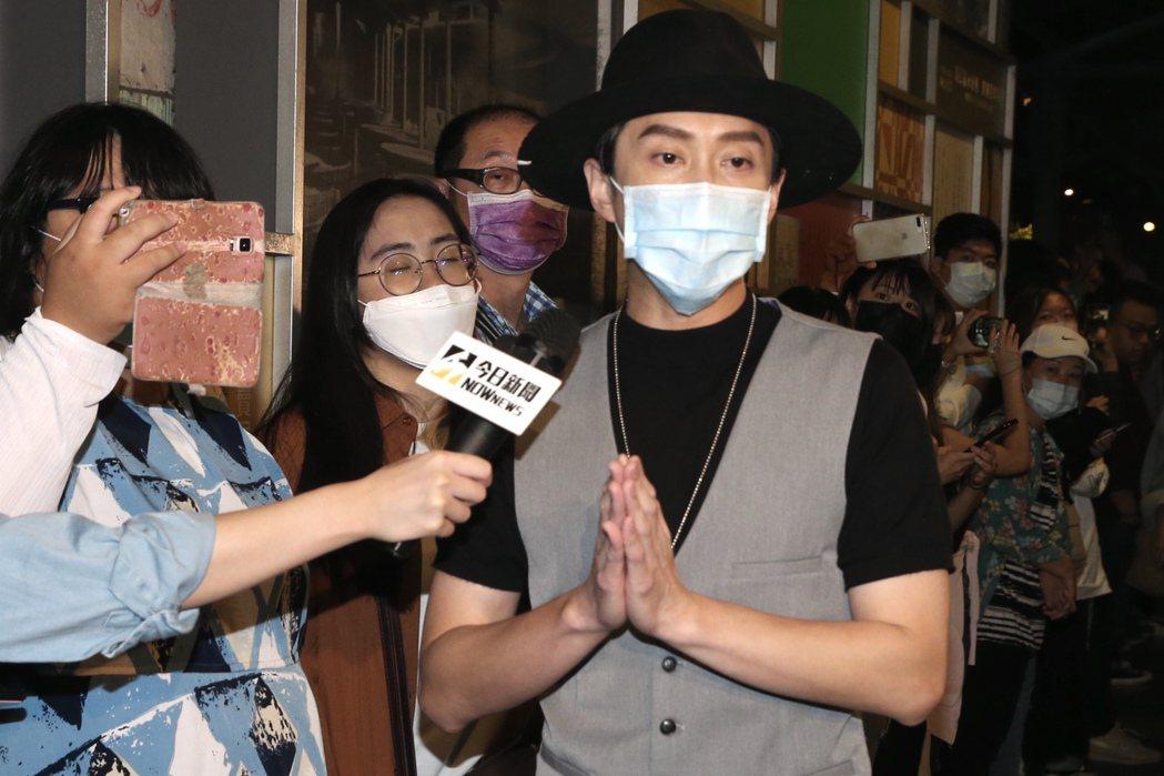 陳漢典出席黃鴻升「地球上最浪漫的演唱會」追思音樂會。記者林俊良/攝影