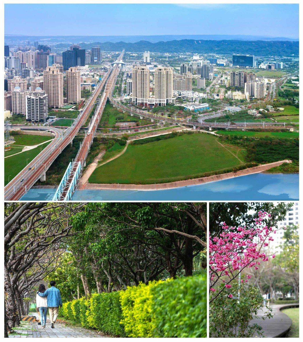 改造頭前溪北岸花海景觀計畫,加值竹北高鐵特區周邊建案身價。