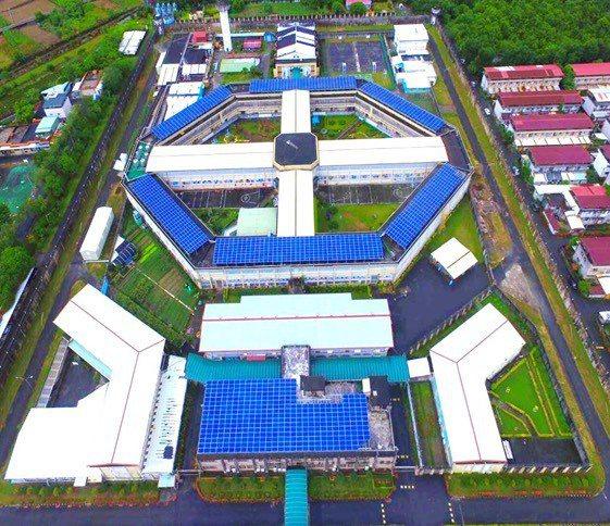 全台第二座綠能發電的「花蓮監獄」。種電/提供。