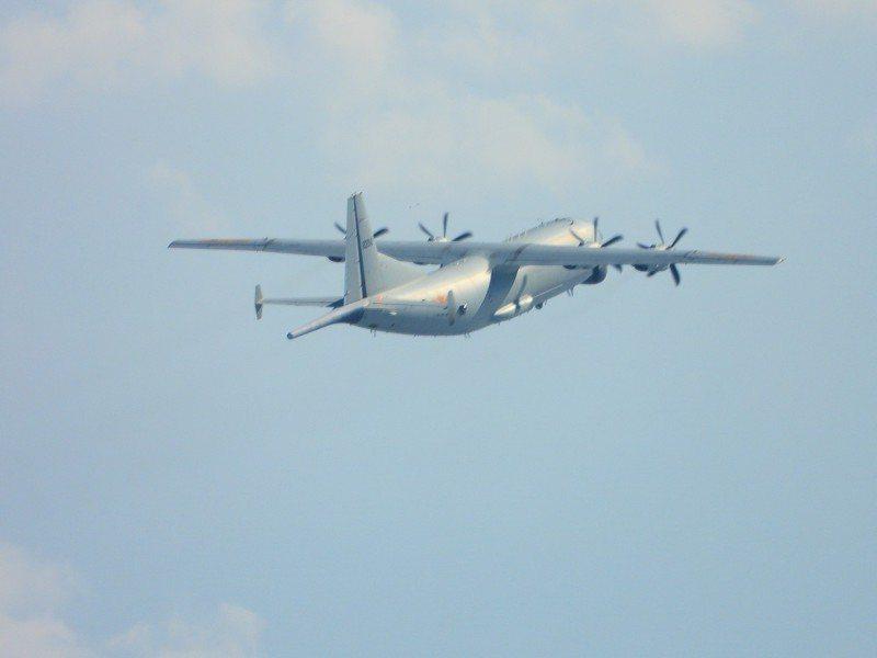 共軍機艦挑釁頻仍,國防部公布年度我機艦升空出海頻次。圖為進入我西南空域防空別區活動的運八反潛機。圖/國防部提供
