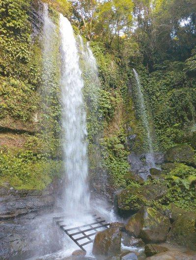 炮子崙瀑布位於阿柔里炮子崙產業道路。記者江婉儀/攝影