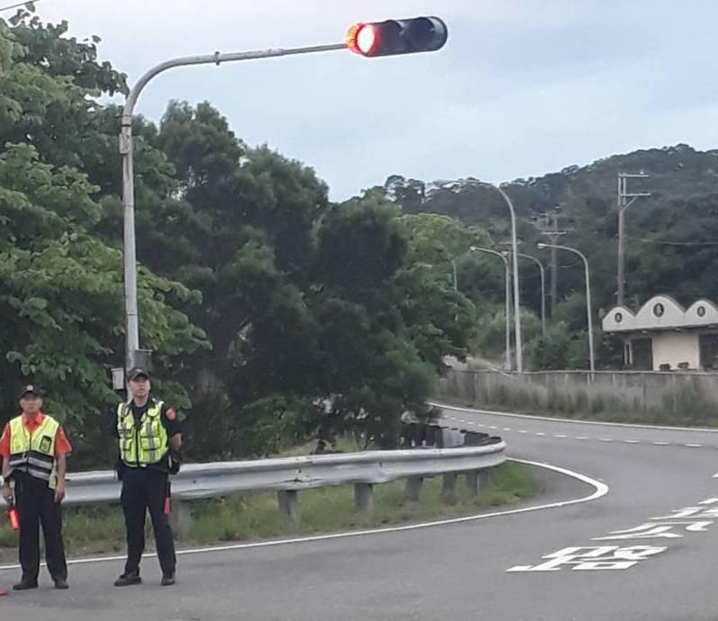 苗栗縣竹南警分局國慶連假將在台61線89至92公里易壅塞路段,規畫行駛至國道3號的替代路線,警方提醒駕駛人注意。圖/竹南警分局提供