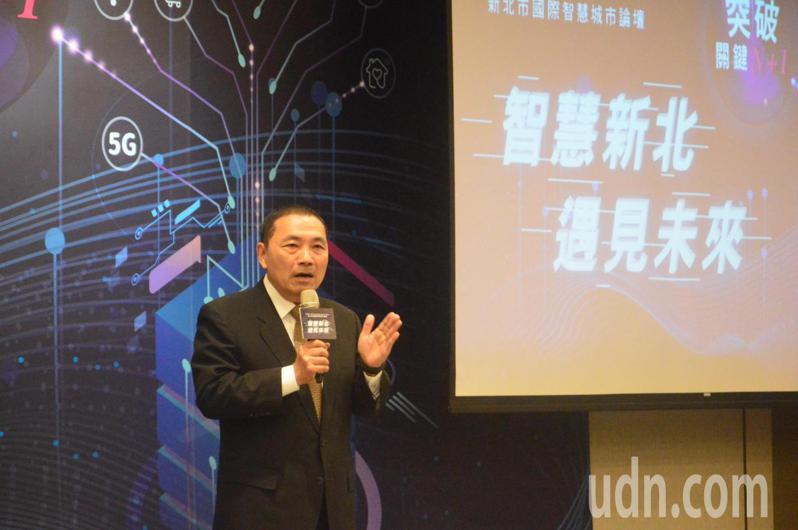 新北市長侯友宜表示,新北不是台北附屬城市,「大市要做大事」。記者施鴻基/攝影